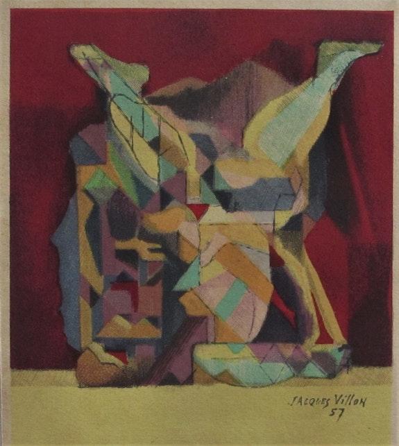 Jacques Villon (Gaston E. Duchamp), 1875-1963 : Saltimbanque, (19)57.. Jacques Villon (Gaston E. Duchamp), 1875-1963 : Saltimbanque, (19)57. Historien d'art, Archéologue; Chercheur Free-L.