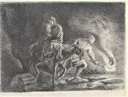 Jean de Jullienne (1686-1766) d'après Antoine Watteau. 1765. Fuite en Égypte..