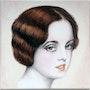 Portrait d'une jeune femme début 1900 rétro. K. Zi. Yak