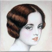 Portrait d'une jeune femme début 1900 rétro. K-Zi-Yak