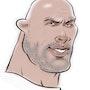Dwayne Johnson caricature. Alex Hook Krioutchkov