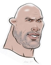 Dwayne Johnson caricature. Alex Hook Krioutchkov