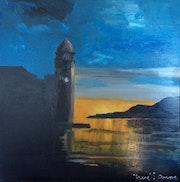 Lever de soleil sir Collioure. René Sausse