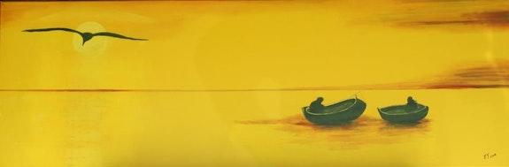 Les 2 barques de pêche. Jacques Tarrano Jacques Tarrano