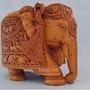 Big sandalwoood Very Fine Detailed Hand Carved Elephant Statue. Mohit Jangid