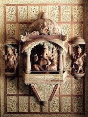 Finest Sandalwood Carved ganesh darbar jharokha. Mohit Jangid