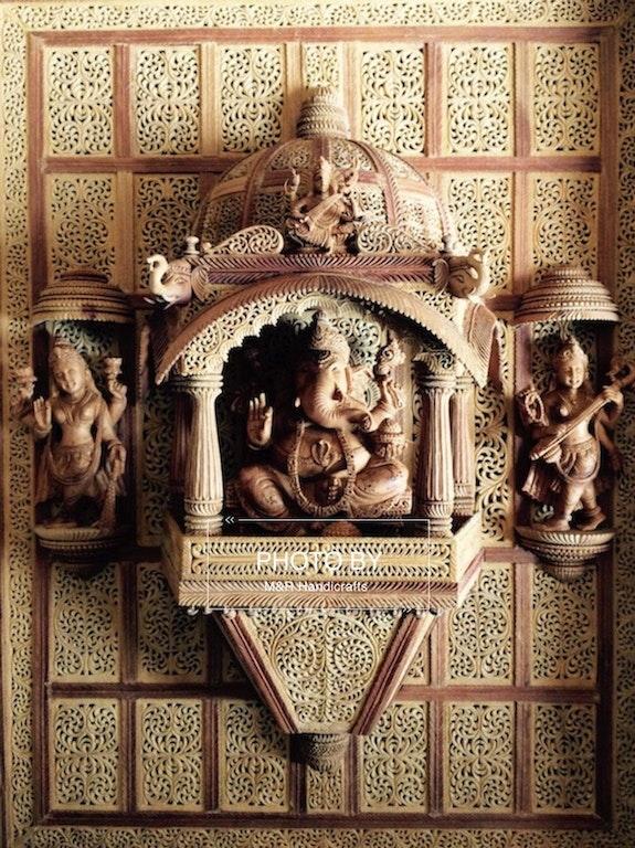 Finest Sandalwood Carved ganesh darbar jharokha. Mohit Jangid Mohit Jangid