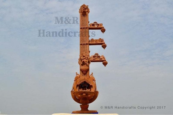 Unique Sandalwood Carved Opening Sitar or Veena Collective Art-piece. Mohit Jangid Mohit Jangid