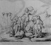 Gajassi : Résistance de Clodion & Mérovée face aux Romains, 1834.. Historien d'art, Archéologue; Chercheur Free-L.