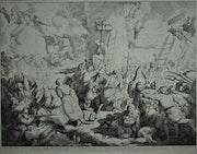 Gajassi : Résistance héroïque des Grecs à Patrasso le 5 avril 1821. 1834.. Historien d'art, Archéologue; Chercheur Free-L.