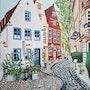 Cafe im Schnoor-Bremen. Sprathoff