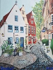Cafe im Schnoor-Bremen.