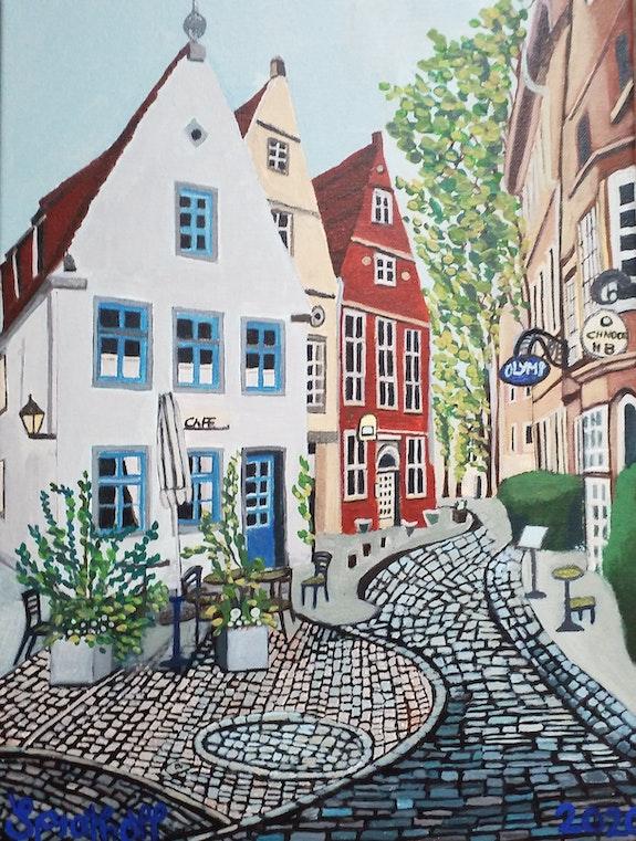 Cafe im Schnoor-Bremen. Sprathoff Sprathoff