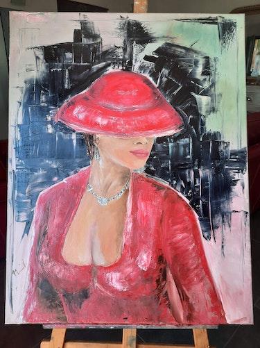 La femme en rouge. Monique Benoit