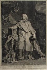 Pierre. Drevet (1663-1738) d'après Hyacinthe Rigaud (1659-1743) : Bossuet. 1723.