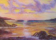 Ocean Sunset. Allison Prior Art
