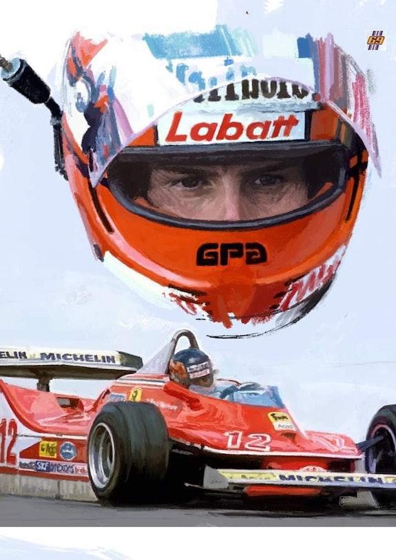 Dessin Gilles Villeneuve f1. P. Fort P Fort