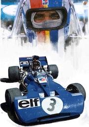 Dessin du pilote de Formule 1 Francois Cevert.