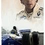 Dessin du pilote de Formule 1 Ayrton Senna. P Fort