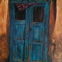 Old blue door. Kati