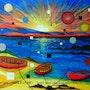 Trois barques. Alain Faure En Peinture