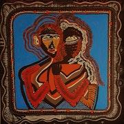 Contemporary israeli artist acrylic painting. Mirit Ben-Nun
