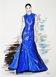 Robe Valentino haute couture, printemps été 2020. Dimitri Salon