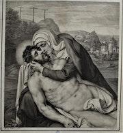 Ferdinand I Piloty (1785 ou 86 -- 1844), d'après D. Volterra (1509-1566). Piétà..