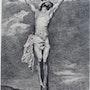 Charles Courtry (1846-1897) : Le Crhist en Croix, d'après Antoine Van Dyck.. Historien d'art, Archéologue; Chercheur Free-Lance (Er)