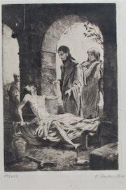 Louis Szanto (1889 - 1965) : Christ thaumaturge.. Historien d'art, Archéologue; Chercheur Free-L.