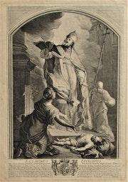 St. Claude, évêque, par C. Cochin, d'après Pierre D'Ulin (1669-1748).. Historien d'art, Archéologue; Chercheur Free-L.