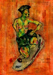 8- Egon Schiele. Homenaje..