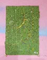Tableau acrylique monochrome vert (187) (2020) - 16.3 cm X 24.5 cm acr.