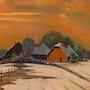 Winter in the village. Kati