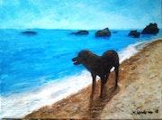 Guainos (Adra) con mi perro Kiko. Pintorcheco