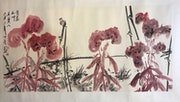 Sh34 - Those Who Loves Autumn Flowers & Plants - Original Asian Art Ink Painting.