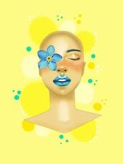 Bald beauty. Maria Cubas Álvarez