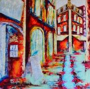 Solstice… Thème coeur de ville. Anne Sophie Artiste Peintre Nantes