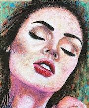 «Sintiendo - te» - Retrato sobre lienzo. Laura Morales Art