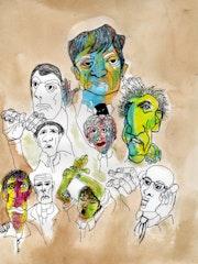 2- Wall Sreets. Dibujos.. Carmen Luna