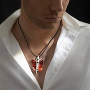 Mefisto Limited Edition Crystal and Silver Necklace.