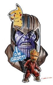 Thanos en un universo extraño. Israel David