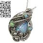 Australian Opal Pendant with Ethiopian Welo Opals. Heather Jordan Jewelry