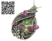 Ruby Fuschite Pendant with Pink Sapphire. Heather Jordan Jewelry