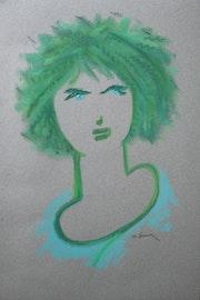 Portrait féminin. Michel Castanier