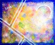 Peinture abstraite acrylique décorative Zénya.