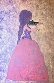 Peinture abstraite acrylique décorative Adéna. Florence Féraud-Aiglin