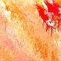 Peinture abstraite acrylique décorative Arabesque. Florence Féraud-Aiglin