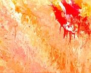 Peinture abstraite acrylique décorative Arabesque.
