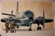 Crew Breguet Dassault Atlantique II deuxième oeuvre.